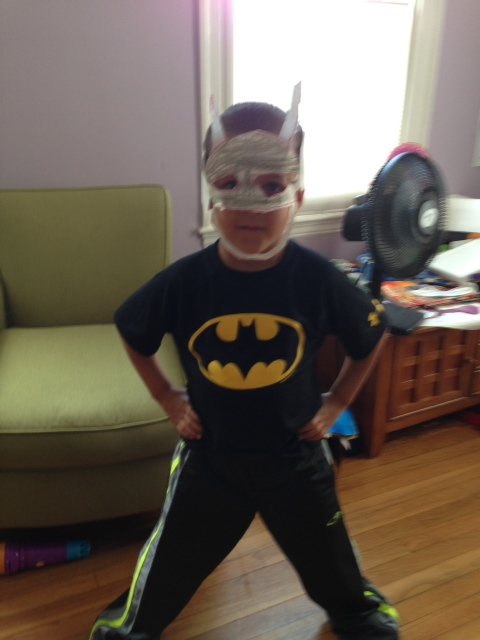 Nicolas likes super hero costumes