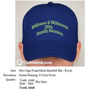 One Size Baseball Cap
